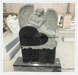 أسود/أبيض صوّان ورخام قلب نصب شاهد شاهد لأنّ جنازة