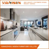 Gabinete de cozinha elevado branco popular da laca do lustro da alta qualidade nova do projeto