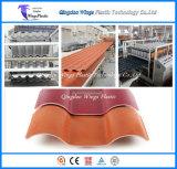 Zwei Schicht Co - Strangpresßling glasig-glänzende Dach-Fliese, die Maschinen-/Strangpresßling-Zeile bildet