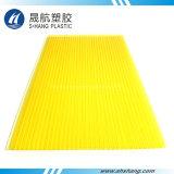 Лист 100% полости стены близнеца поликарбоната Sabic девственницы желтый