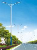 一義的なデザイン二重アーム太陽エネルギーLEDの街灯