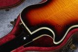 Le double Sunburst de type de Lp de jazz de cru troue la guitare électrique