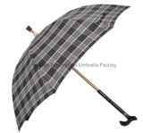 Adjustable Handle (SU-0023AAFH)를 가진 깨지지 않는 이중 목적 Walking Stick Umbrella