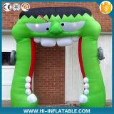 Kundenspezifischer aufblasbarer Halloween-grüner Bogen für Halloween-Dekoration