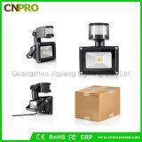 luz de inundación del sensor de movimiento de 10W 20W 30W 50W PIR LED
