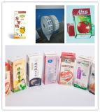 Caixas assépticas para o suco e o leite