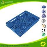 Blauwe Plastic het Rekken van de Kleur Pallet voor Logistische Harde Plastic Pallet
