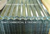El cinc cubrió el metal de los materiales de construcción galvanizado cubriendo la hoja acanalada prepintada galvanizada sumergida caliente del material para techos de la hoja de acero de hoja