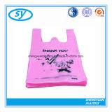 Plastikshirt-Einkaufstasche mit Ihnen besitzen Firmenzeichen
