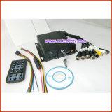 H. 264 carro móvel DVR da canaleta do cartão 4 do SD para o carro do táxi do auto escolar
