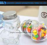 I favori dell'acquazzone di bambino hanno reso personali i vasi di vetro a forma di orso dell'orsacchiotto