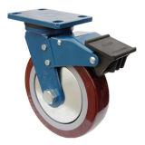 Hochleistungs-PU-Fußrollen-Rad (rot)