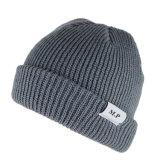 カスタム人のための帽子によって編まれるラベルの冬によって編まれる帽子