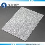 Quatre couleurs ont gravé la feuille en relief de diamant de PC de polycarbonate