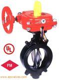 UL / FM 300 psi Вафли клапан Тип бабочка