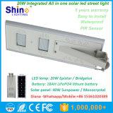 20W LED 40W Sunpower 태양 전지판은 1개의 태양 가로등에서 모두를 통합했다