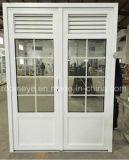 Porte étanche de tissu pour rideaux de profil de PVC de coût bas avec le guichet (PCD-019)