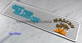 vinil de borracha macio do PVC do logotipo do OEM 3D marcado esteira Eco-Friendly da barra das esteiras da barra