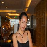 Классический сплав с ожерельем цветка камня смолаы привесным с комплектами ювелирных изделий серег