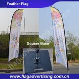Bandiera Advertisig della bandierina di spiaggia di 2016 abitudini con Palo e la base
