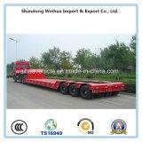 Acoplado de China Lowbed semi, 3 líneas 6 acoplado pesado del equipo de los árboles para la venta