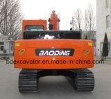 Excavadores de la correa eslabonada de Baoding 15ton con 0.7m3 el compartimiento, gancho agarrador hidráulico del ciruelo