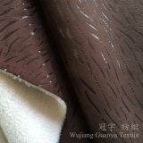 Panno morbido polare che appoggia il tessuto 100% del cuoio della pelle scamosciata del poliestere