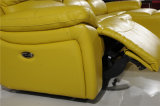 Insiemi di cuoio del sofà del Recliner per la L salone di figura usato