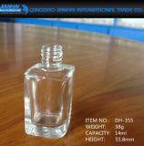 bottiglia di vetro del polacco di chiodo di figura quadrata 7ml-14ml con la protezione