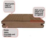 Plancher composé en plastique en bois de coextrusion de Decking