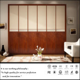 Alto guardaroba di legno lucido UV moderno della porta aperta (FY890)