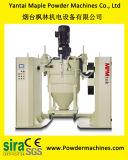 Mezclador de la capa del polvo con los envases movibles