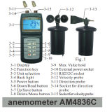 Sale를 위한 Am4836c Professional 3 Wind Cup Anemometer