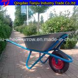 carrinho de mão de roda plástico Wb7800W da roda 110L dois