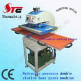 Печатная машина Stc-Yy01 тенниски машины передачи тепла давления масла давления Machine40*40cm жары станции двойника гидравлического давления сертификата CE автоматическая