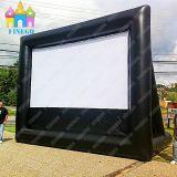 Finego riesige mit großem Bildschirm im Freien aufblasbare Himmel-Luft-Rückseiten-deluxer Film-Rahmen