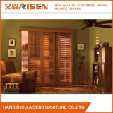 Ajustable Color de madera para interiores de Australia Basswood Plantation Window Shutters