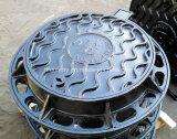 Black Bituminous DI Manhole Cover with Aluminum Molding