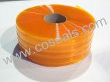 Cortina com nervuras da tira do PVC do amarelo para a indústria alimentar