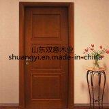 Modèle en bois de portes intérieures en bois solide de la Chine du meilleur teck en bois
