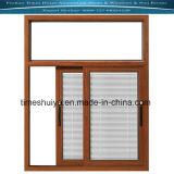 Алюминиевое окно с штаркой/жалюзиим и Tempered стеклом