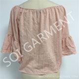 Sleeves Blouse (SOI-T1717)女性の方法肩の王女