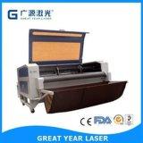 Cabeças dobro queAlimentam a máquina de estaca do laser para a tela