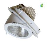 30W MAZORCA ajustable LED comercial Downlight con 3 años de garantía