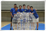 Bille de butoir gonflable transparente pour la construction d'équipe