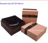 Rectángulo de almacenaje hecho a mano de lujo del embalaje de la joyería del papel de la cartulina