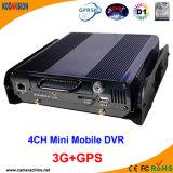 4 Canal Bus Car Red 3G GPS CCTV DVR portátil (KM-204HD-G)