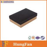 Het zwarte Vakje van de Verpakking van het Karton van het Document van Kraftpapier/het Vakje van de Gift