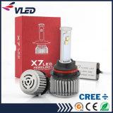 9600lm 차를 위한 높은 루멘 9007 X7 LED 헤드라이트