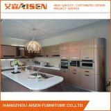 De alta calidad 2015 madera contrachapada pintura al horno nuevo diseño de gabinete de cocina